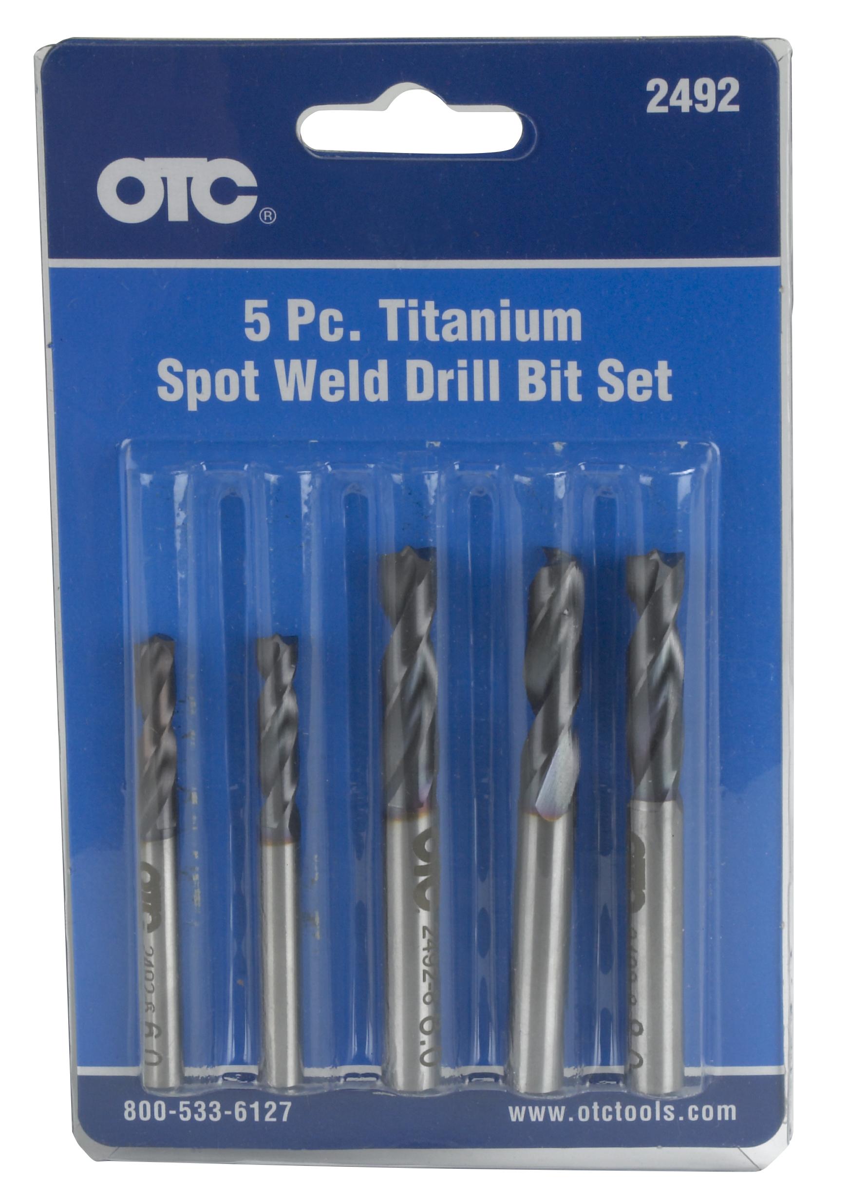 Cobalt Drill Bit Set >> 5 Piece Spotweld Drill Bit Set | OTC Tools