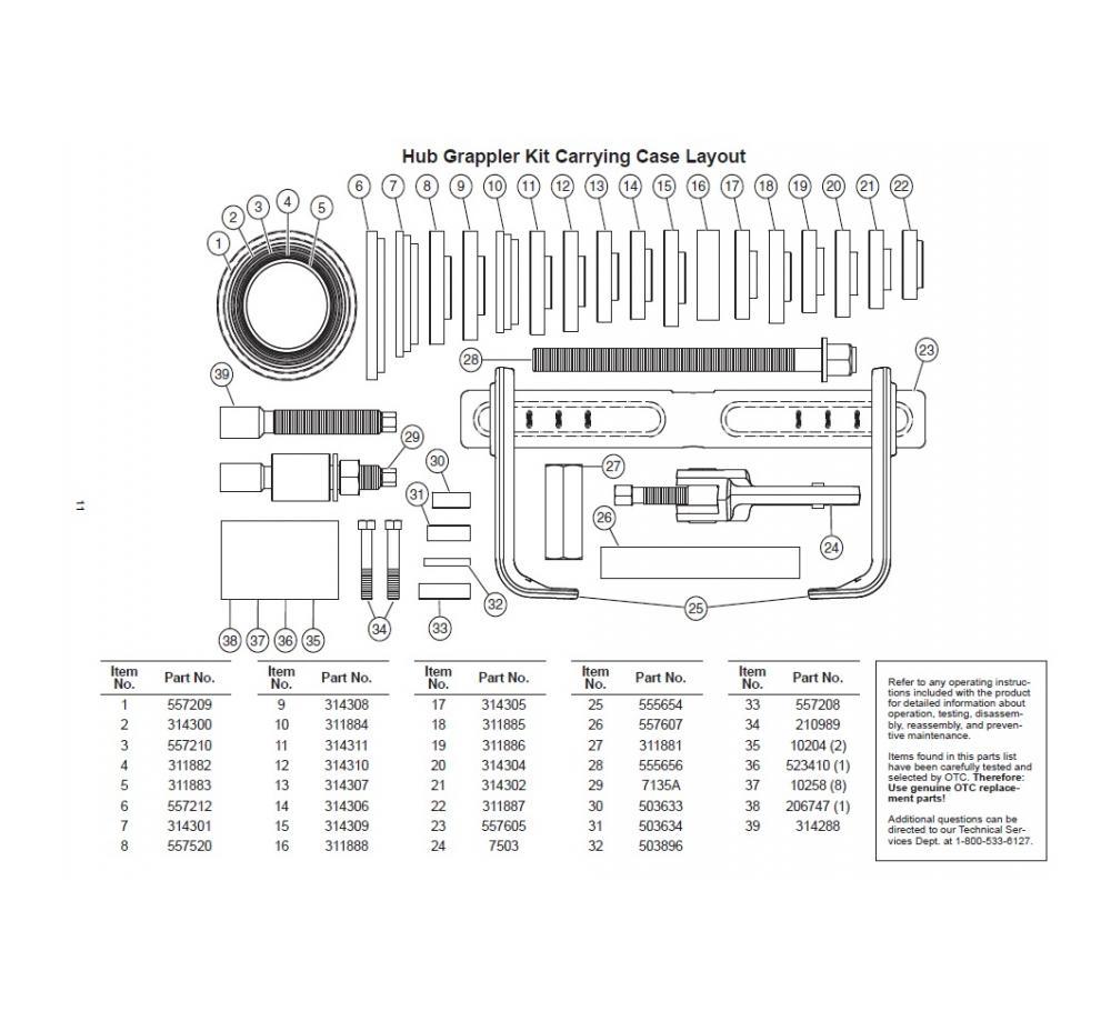 otc hub grappler hub puller otc tools rh otctools com OTC Hub Grappler YouTube Hub Grappler Manual